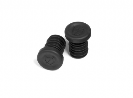 S&M Push-in Bar End Plugs Black